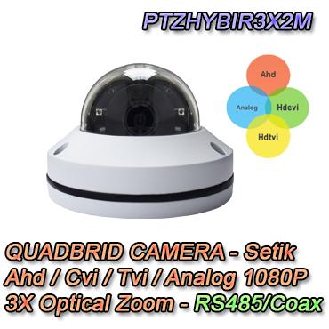 Telecamera per la videosorveglianza Ibrida 4in1 Ahd/cvi/tvi/analog 1080p rs485