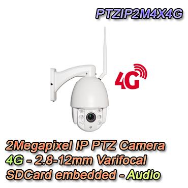 Telecamera per la videosorveglianza IP Dome PTZ con risoluzione 2Mpx e zoom ottico 4x