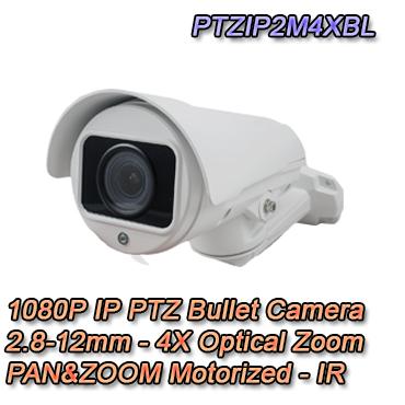 Telecamera per la videosorveglianza IP Bullet PTZ con risoluzione 2Mpx.