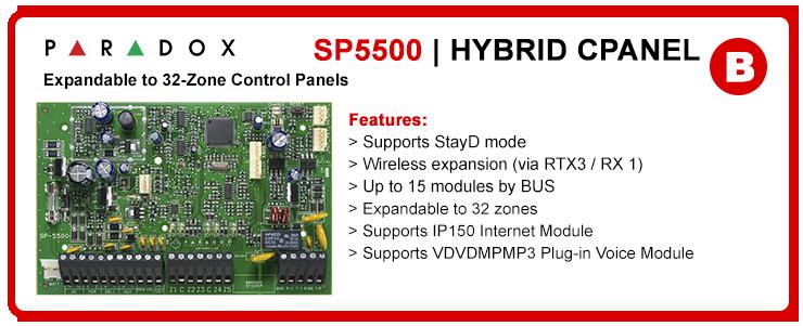 Paradox SP5500 Centrale d'allarme