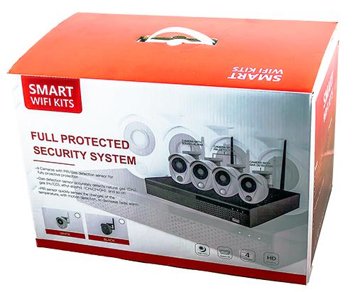 Kit Videosorveglianza Allarme 1080P Wifi Wireless con sensore allarme