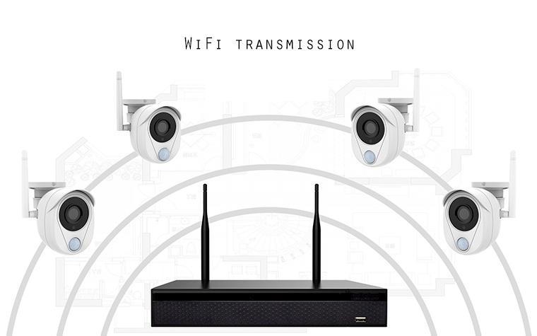 Kit Videosorveglianza Allarme Sensore PIR ST-4KITIP10804PIR