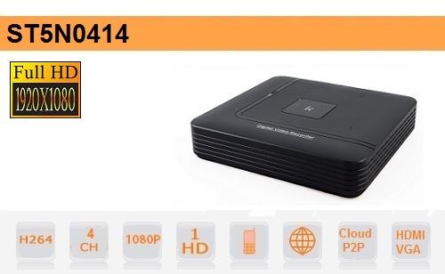 NVR 4 Canali fino a 2Mpx - H264 - Setik