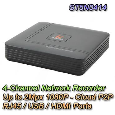 NVR IP 4 Canali fino a 2Mpx