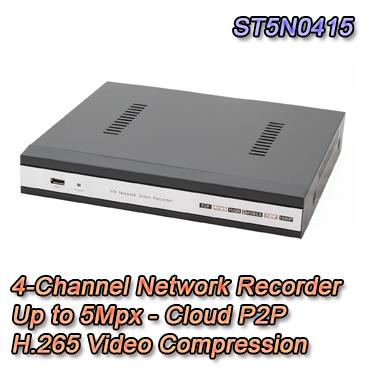 NVR IP 4 Canali fino a 5Mpx