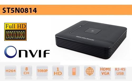 NVR 8 Canali fino a 2Mpx - H264 - Setik