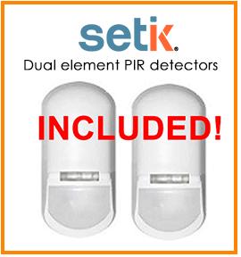 Sensori Setik TK-501 Allarme Dual PIR Pet Immune