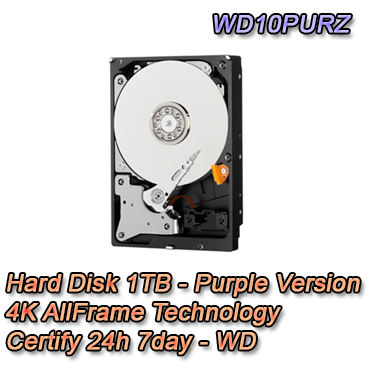 Hard Disk 1TB Audio / Video SATA - Western Digital