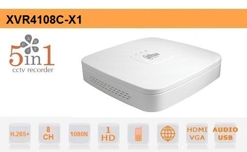 DVR 8 Canali 5in1 1080N Dahua Audio Smart 1U