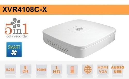 DVR 8 Canali 5in1 1080N Dahua Audio Smart 1U