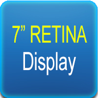 "Display Retina 7"" touchscreen"