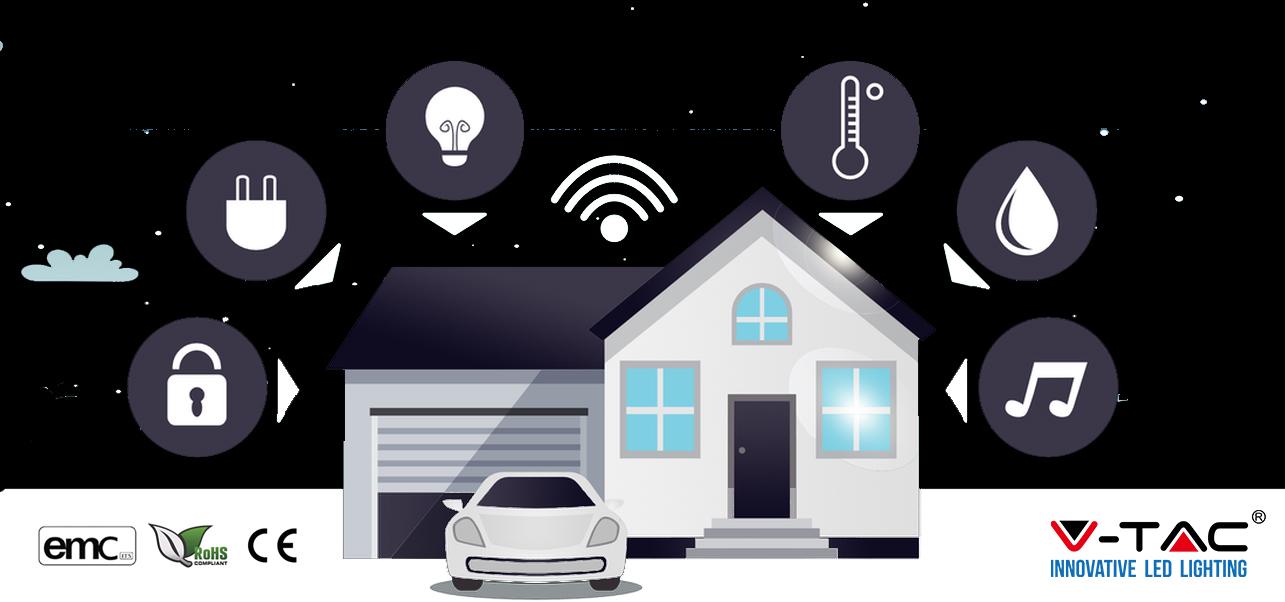 Presa wireless esterna intelligente smart home V-TAC